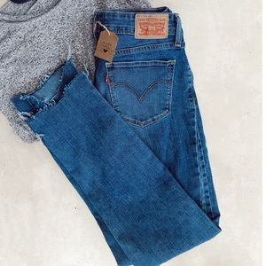 Lightly Distressed Levi Jeans